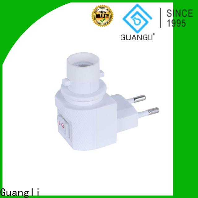 Guangli ul night light socket company for wall light