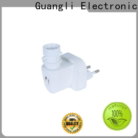 Guangli 360°rotatable night lamp socket for business for bedroom