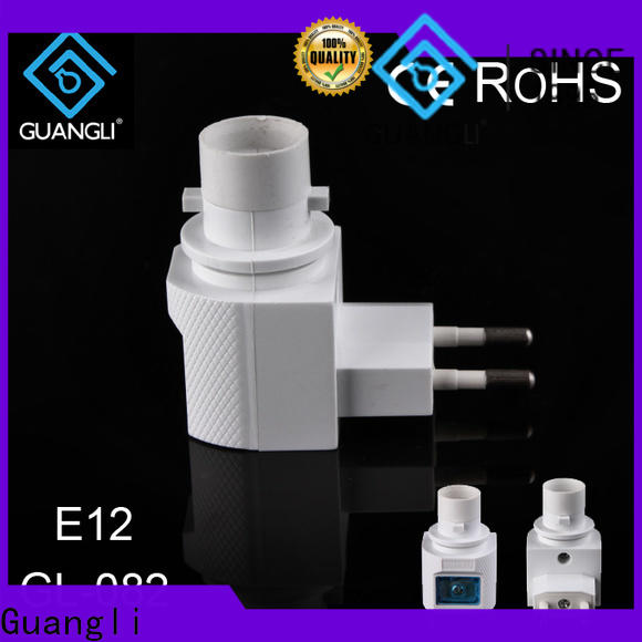 Guangli wall night lamp socket supply for wall light