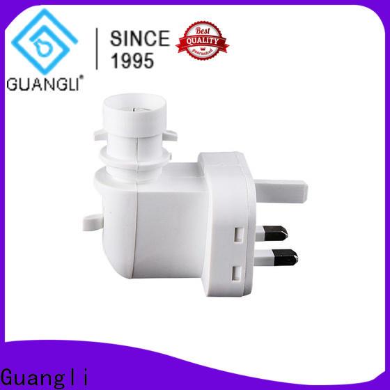 Guangli 220v110v night lamp socket factory for wall light