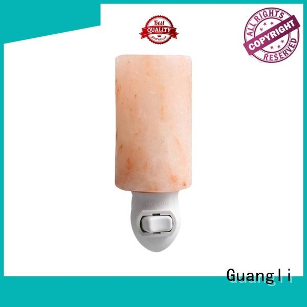 Guangli quality salt lamp night light ceramic cover for improve sleeping
