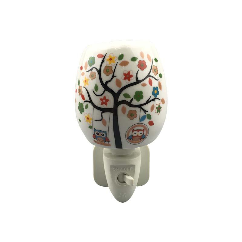 Plug In Decorative Ceramic Night Light with Aroma Essential oil for Bedroom Decoration