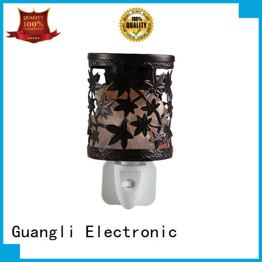 plug-in salt night light ceramic cover for improve sleeping Guangli