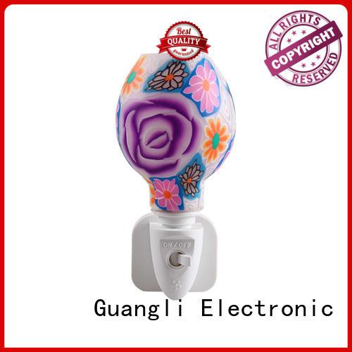 Glass Plug in Night Light with Aroma Essential Oil 110v 220v 7w