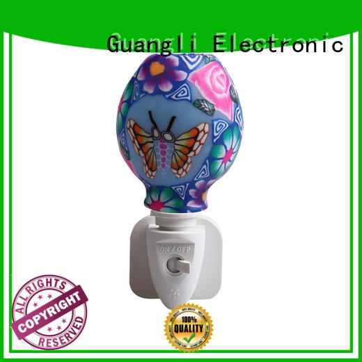 ETL UL CE SAA CB BS indoor decoration Aroma Essential Oil soft Art glass butterfly flowers design night light 110v 220v 7w