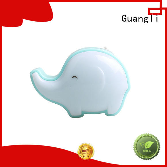Lovely elephant Crazywan Kids 3 SMD Small switch Wall Night Lamp for Children plug in 0.5W AC 110V 220V