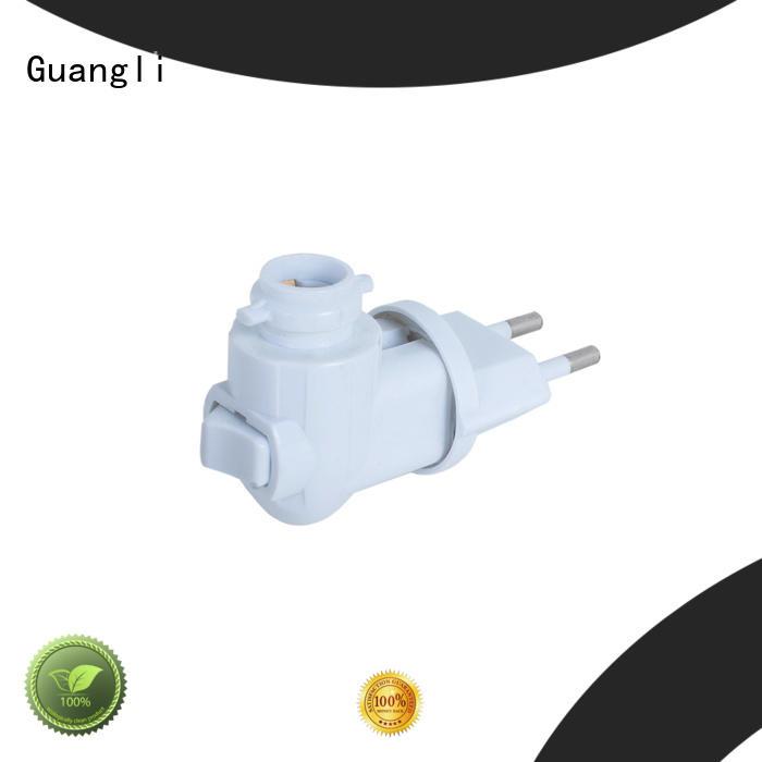 CE ROHS night light base socket 360° rotary plug for EU market 220V 110V