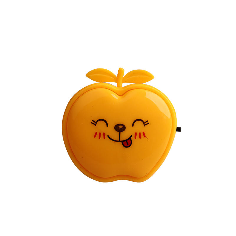 switch plug in creative fruits apple led night light For Children Baby Bedroom