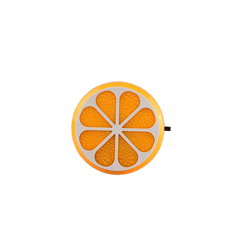 4SMD US EU mini switch plug in Fruits orange Shape night light For Baby Bedroom