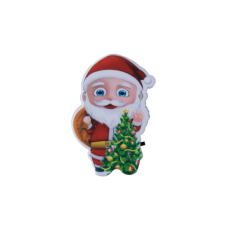 mini switch plug in xmas christmas trees Santa Claus led night light For Baby Bedroom