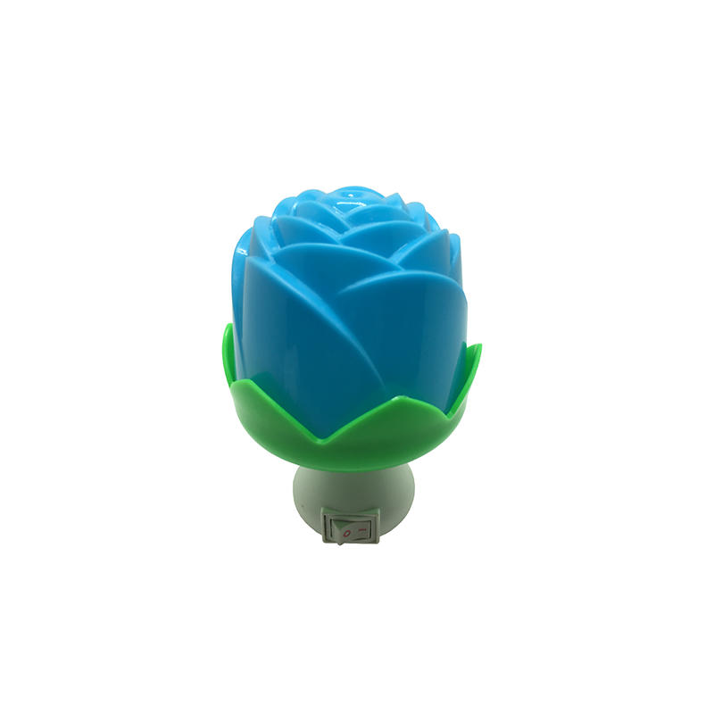 Flower rose shape 3 SMD mini switch sensor plug in night light with 0.5W AC 110V or 220V