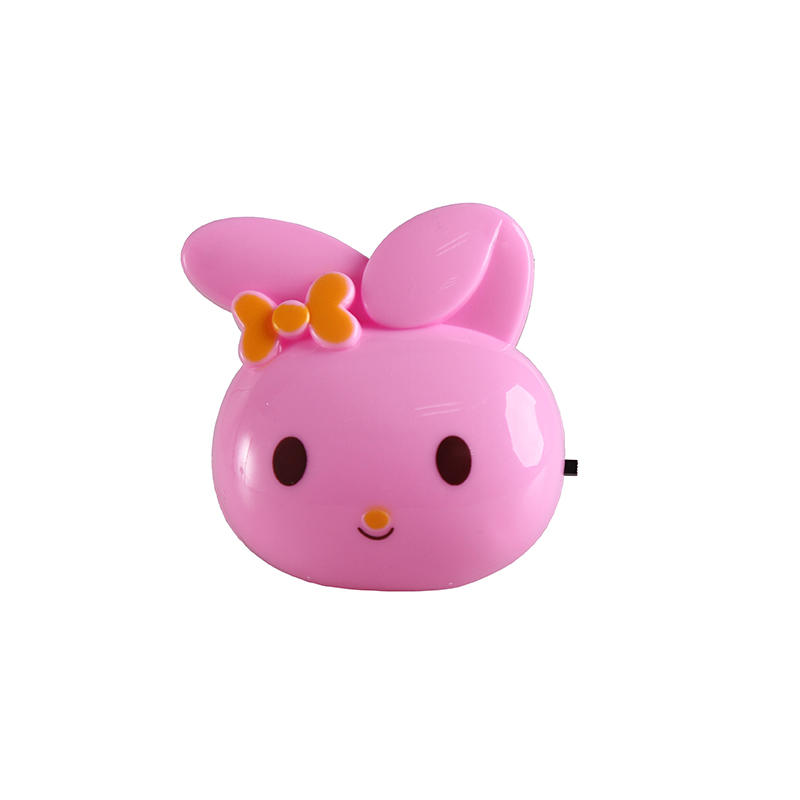 mini switch plug in rabbit cute ears shape night light For Baby Bedroom cute gift