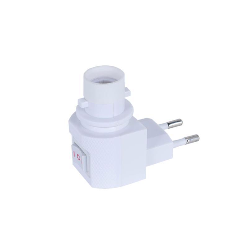 European plug Switch night socket electrical plug  lamp holder E12 cap 5W 7W 15W 220V