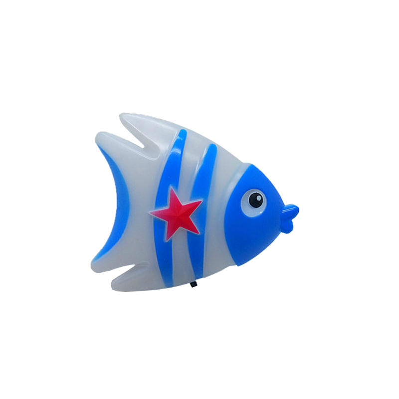 Fish cute shape LED SMD mini switch plug in night light 0.5W AC110V 220V