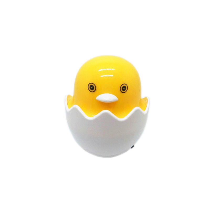 Popular Nightlight Cute Mini Yellow Chicken plug in Night Light Children's Bedroom Creative Cartoon Decor Lamp EU