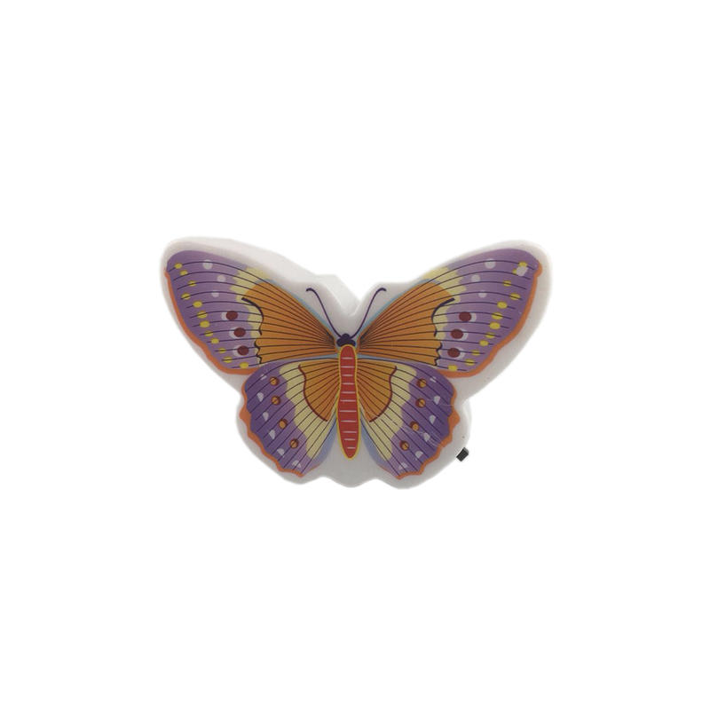 Beautiful Butterfly Animals 4 SMD mini switch plug in room usege night light with 0.5W  AC 110V or 220V