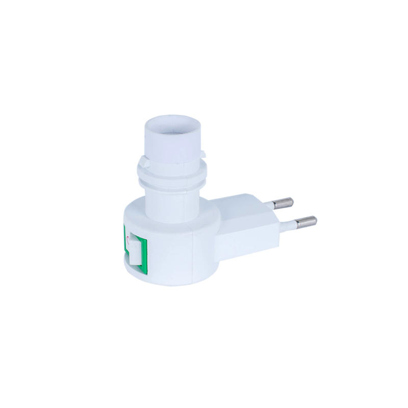 E12 wall lamp holder switch night light European electrical plug  220V or 240V  CE