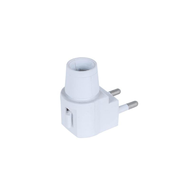 E12 night light socket lamp holder with plug CE approved 220V/110V