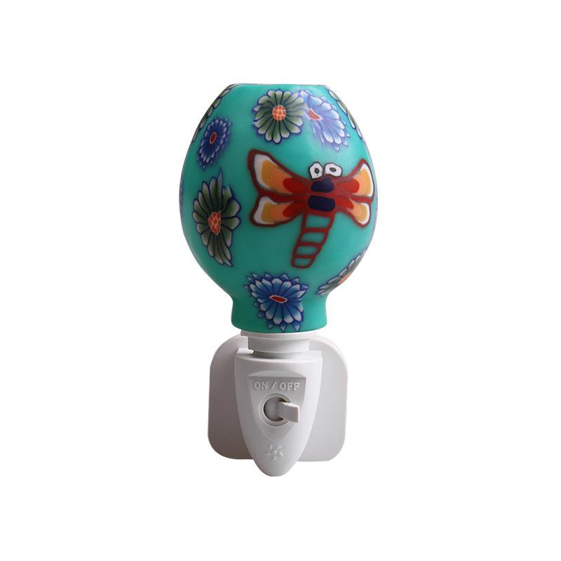ETL UL CE SAA CB BS green butterfly design Aroma Essential Oil soft Art glass night light 110v 220v 7w
