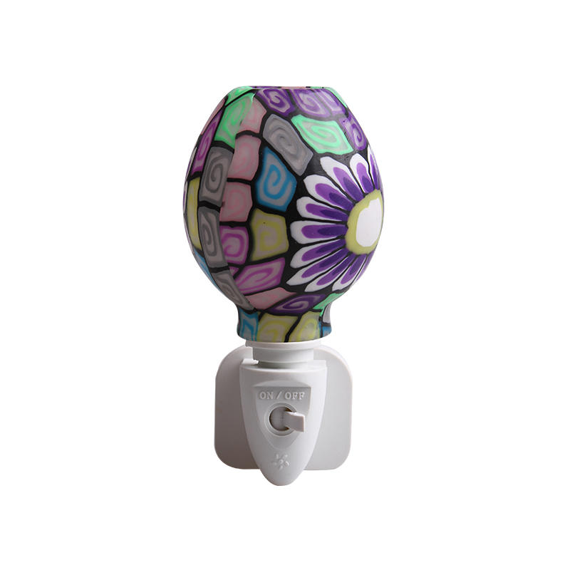 ETL UL CE SAA CB BS Purple Mosaic design Aroma Essential Oil soft Art glass night light 110v 220v 7w