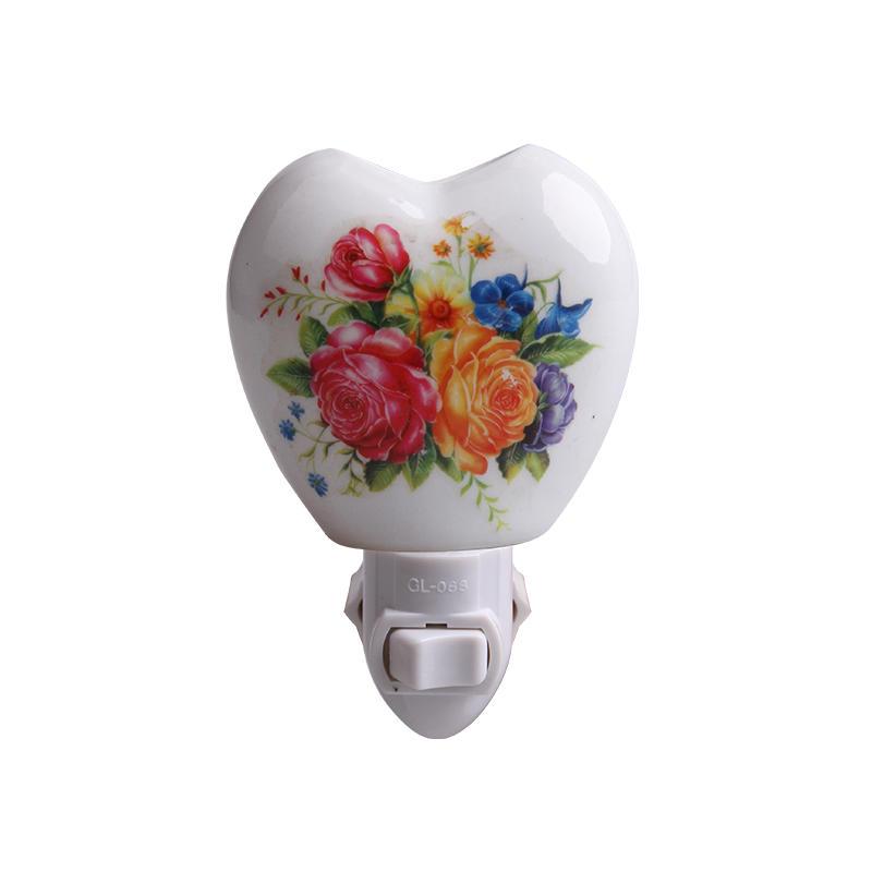110v 220v fragrance ceramic nightlight antique wall lamp