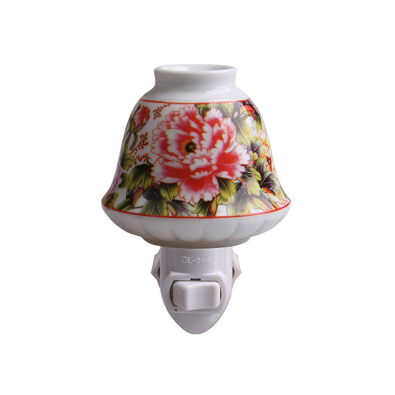 110v 220v fragrance ceramic nightlight antique wall lamp