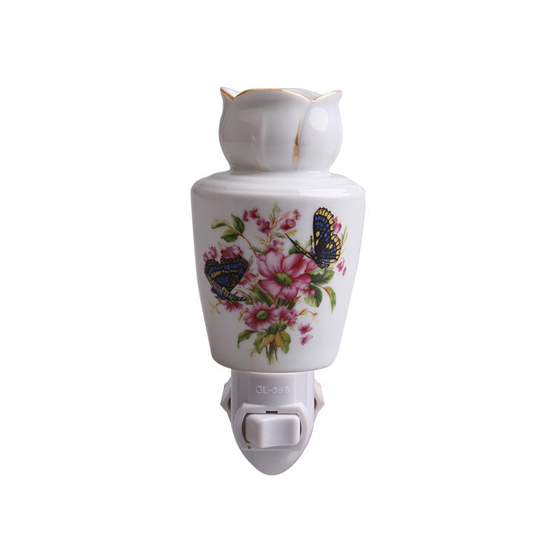 110-240v,0.5-15w aroma night light ceramic lamp porcelain night lamp