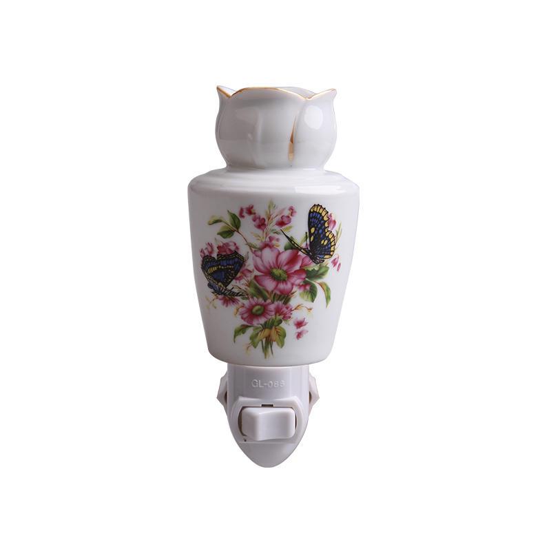 110-240v,0.5-15w aroma night light ceramic lamp porcelain night lamp