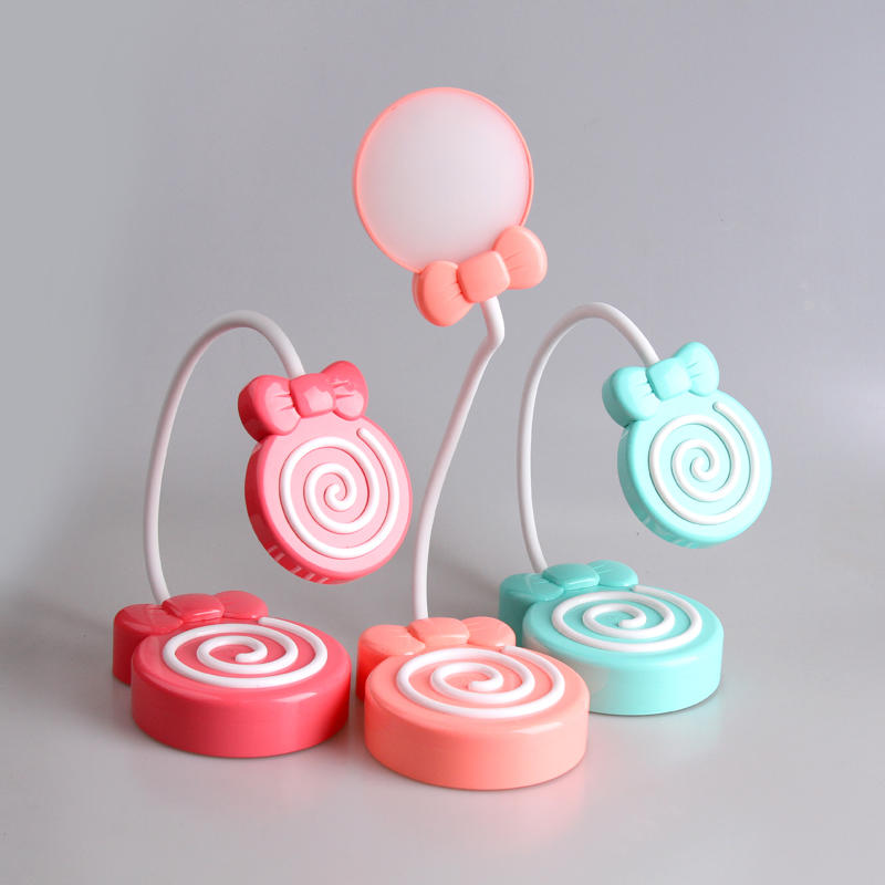 Lollipop Table Lamp Led Touch Dimming Night Light Gift desk Lamp USB rechargeable 5V for lighting