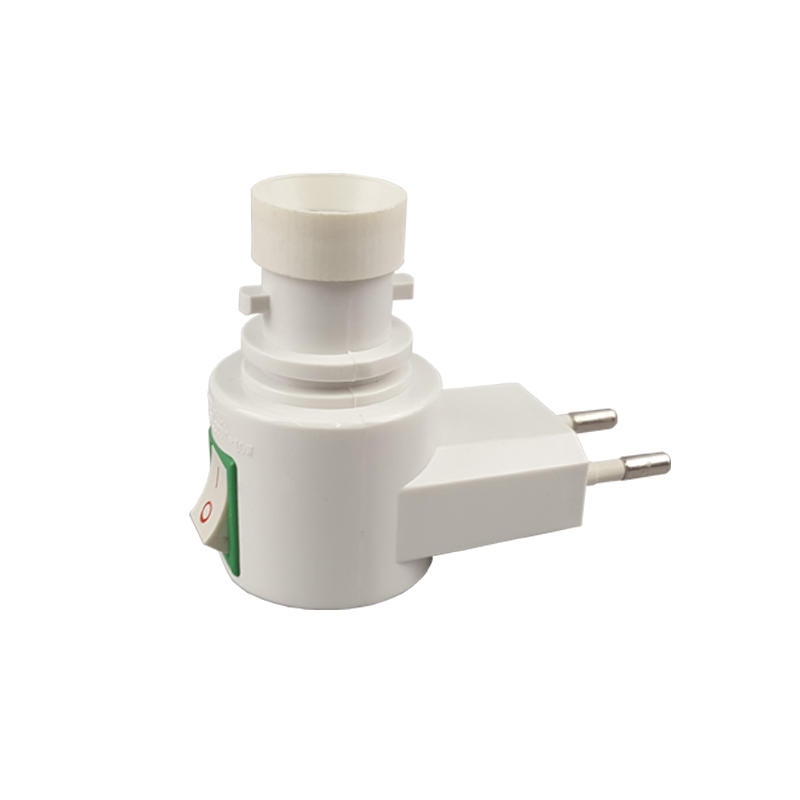 European plug switch night light socket electrical plug lamp holder E14 cap 5W 7W 10W 220-240V