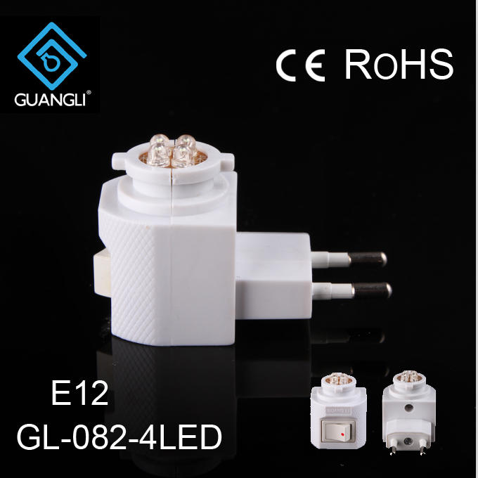 E12 European holder socket for plastic socket decorative plug in lamp holder with LED switch