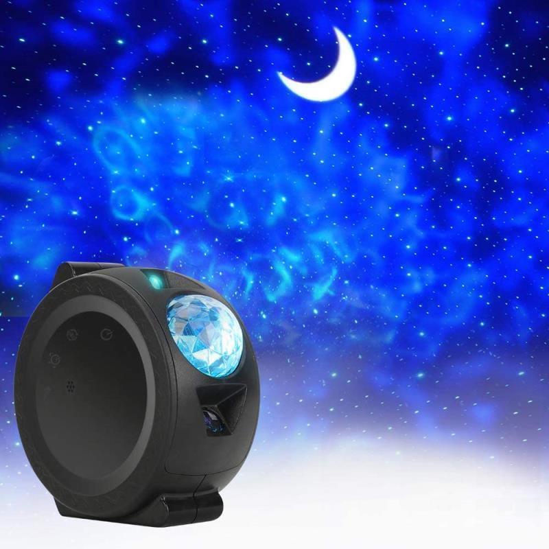 Music Control Starry Sky Ocean Projector Bedroom Living room Decorative Light lamp Colorful USB LED Moon Nebula Night Light for Kids