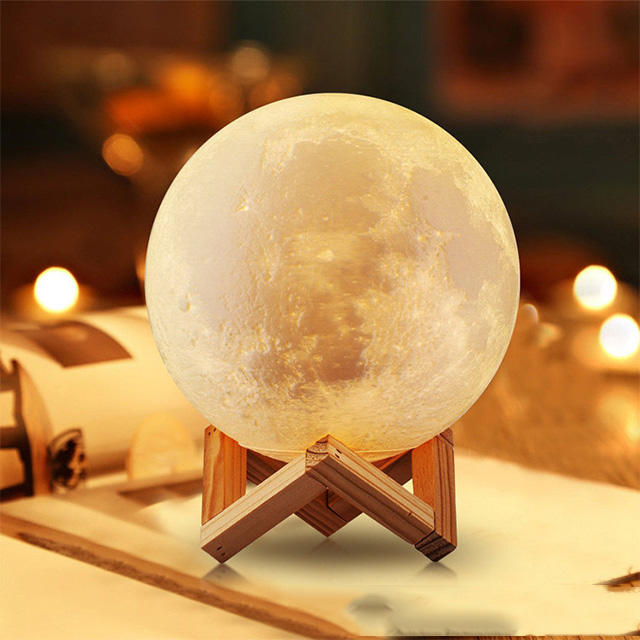 Led night light 3d moon lamp