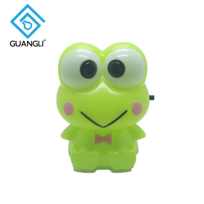 frog shape plug in night light lamp for baby kids