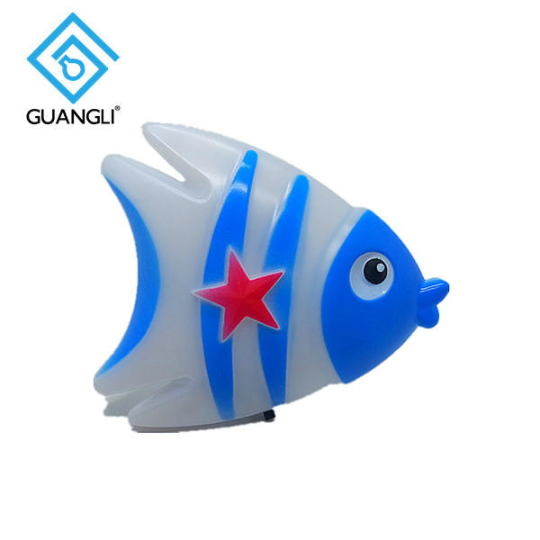 Fish cute shape LED SMD mini switch plug in night light 0.5W AC110V 220V