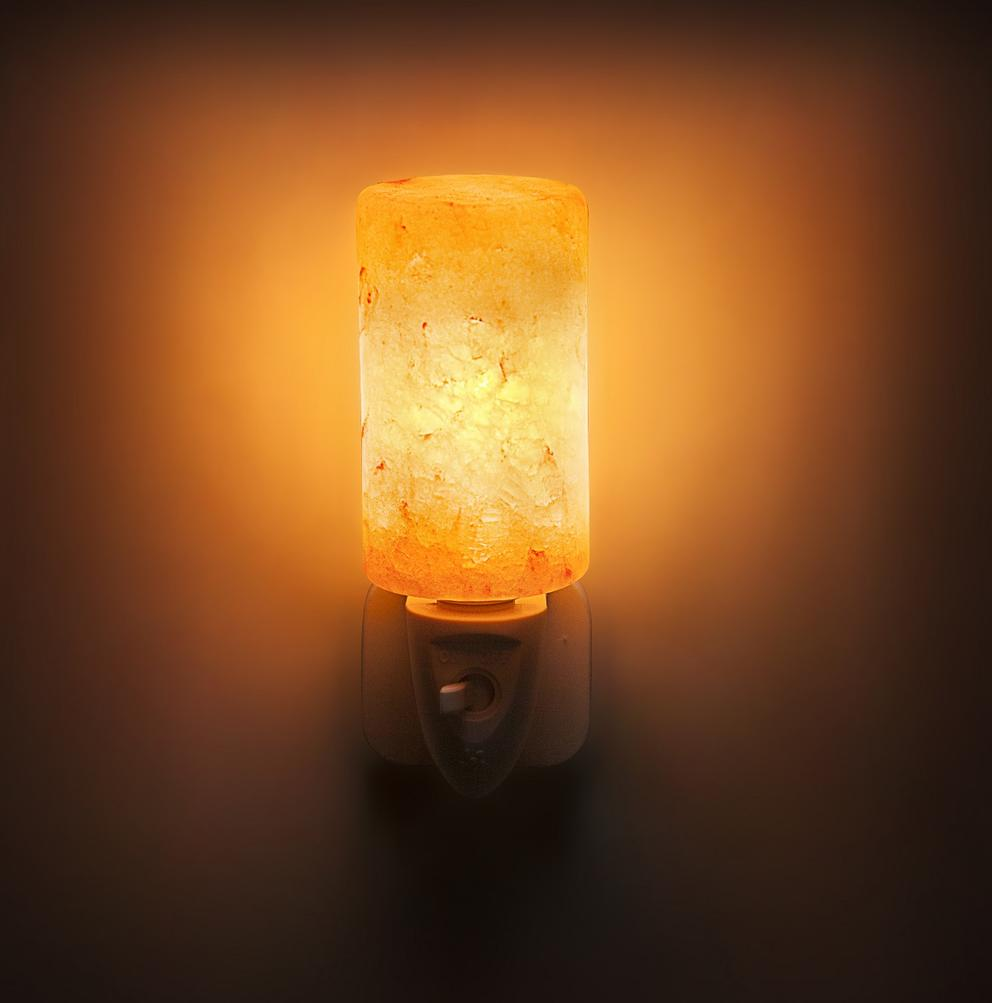 Rock Salt 7W Natural Crystal Himalayan Hand Carved Rock Salt Lamp Wall Lamp Light
