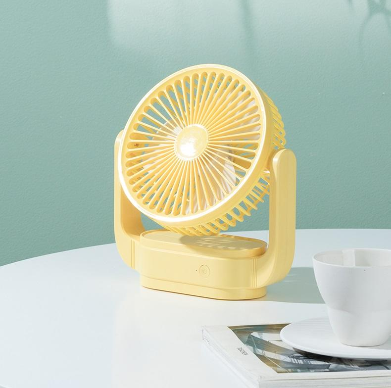 180 degree handle turning multiple charging mode silent fan portable electric table fan