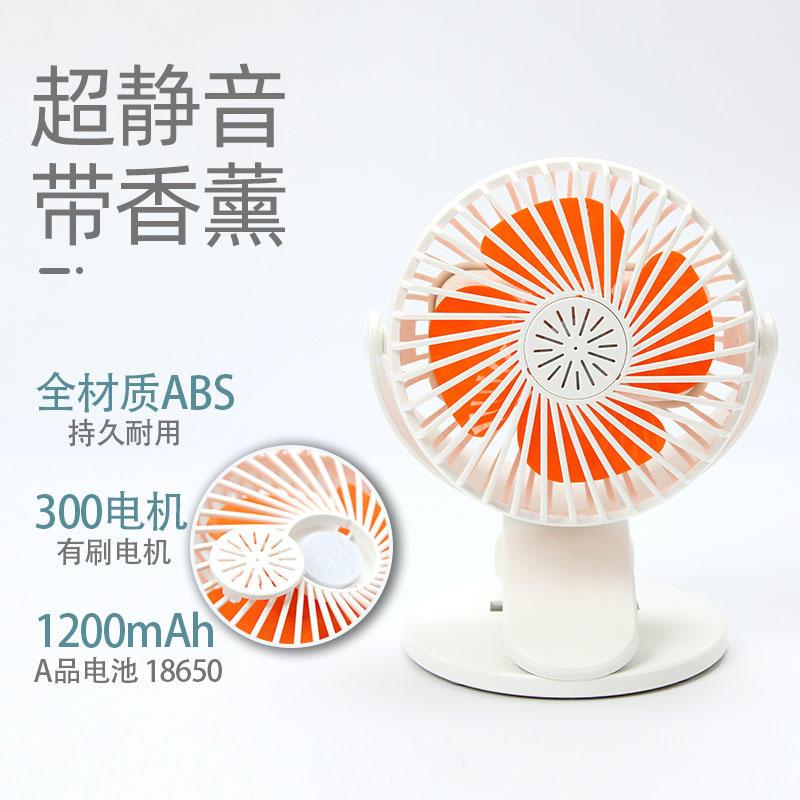 Clip on Fan Mini Portable Rechargeable Battery USB Desk Table Stand Fan 360 Rotatable Camping Stroller Clip Fan
