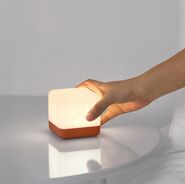 Flip timing portable night light with battery