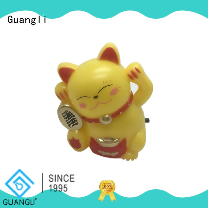 Fortune lucky Cat with LED SMD mini switch plug in night light room usege with 0.5W and 110V or 220V