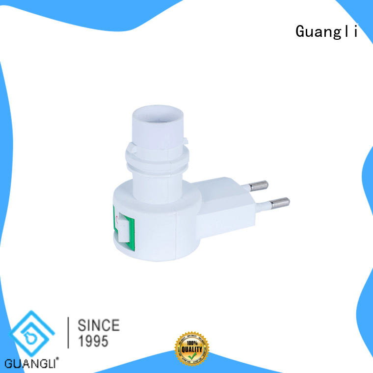 Guangli quality night light base socket factory price for wall light