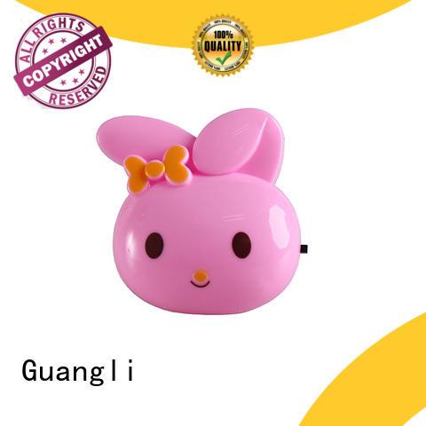 mini switch plug in rabbit cute ears shape night light For Baby Bedroom cute gift