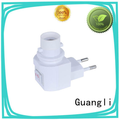 Guangli 360°rotatable night light socket factory price for hallway