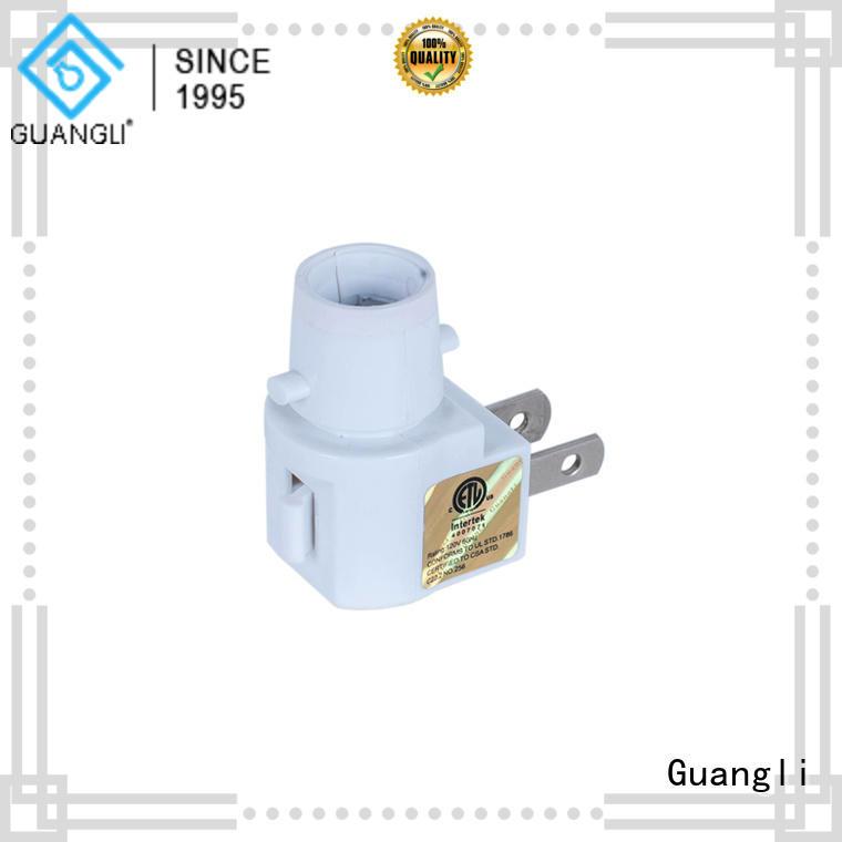 Guangli night light base socket wholesale for wall light