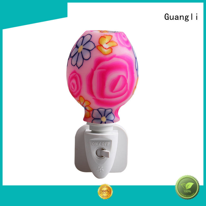Pink rose design ETL UL CE SAA CB BS Aroma Essential Oil soft Art glass night light 110v 220v 7w