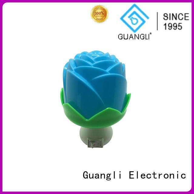 Flower rose shape 3 SMD mini switch sensor plug in night light with 0.5W AC 110V or 220V