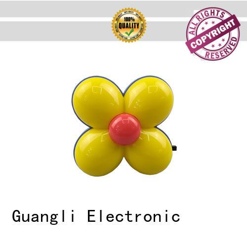 Clover flower shape 4 SMD mini switch plastic material plug in night light 0.5W AC 110V 220V