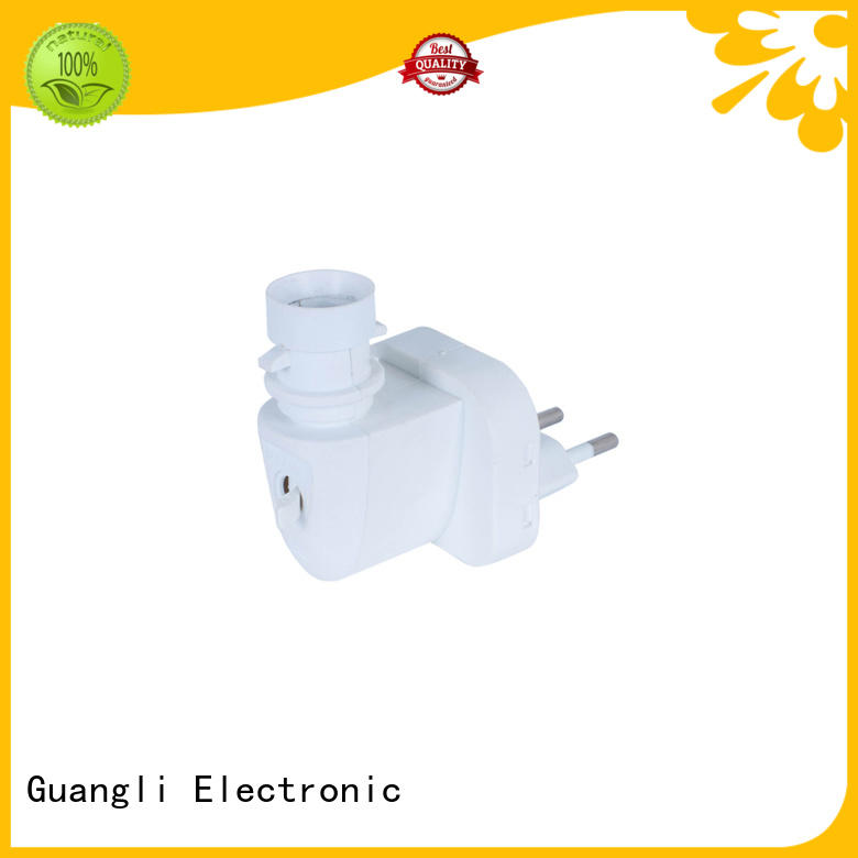 CE ROHS E14 lamp holder socket Europe electric plug 220-240V for night light rotary avaliable