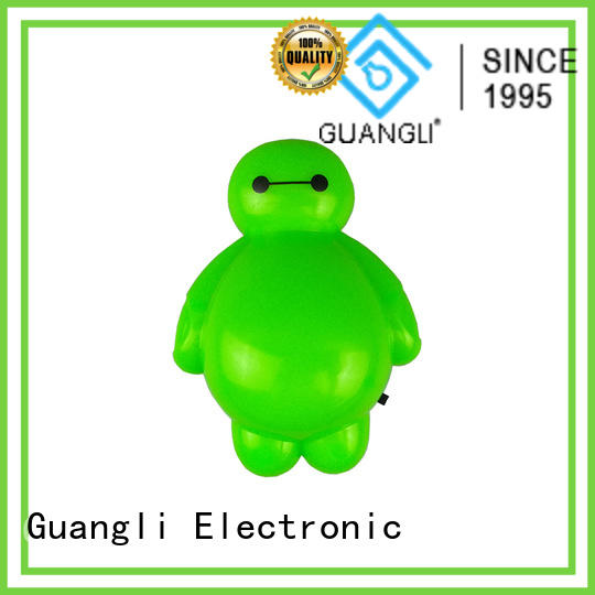 Guangli cartoon kids wall night light factory price for bedroom