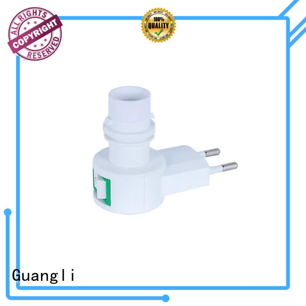 360°rotatable night lamp socket white for wall light Guangli
